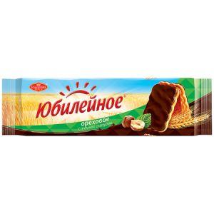 Печенье ЮБИЛЕЙНОЕ Ореховое витаминизированное с глазурью 116г