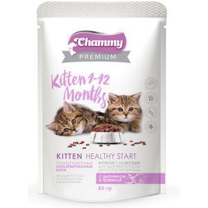 Корм для кошек CHAMMY PREMUIM 85г Пауч цыпленок/телятина