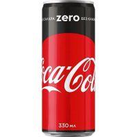 Газированный напиток COCA-COLA Zero 0,33л