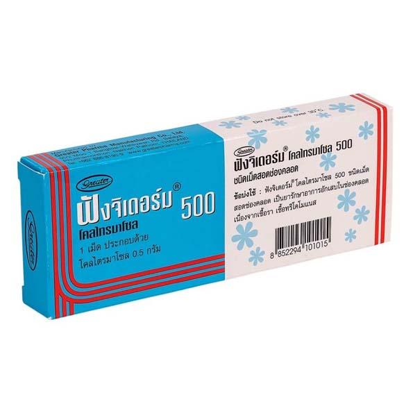 Вагинальная свеча от молочницы и хламидиоза Fungiderm 500