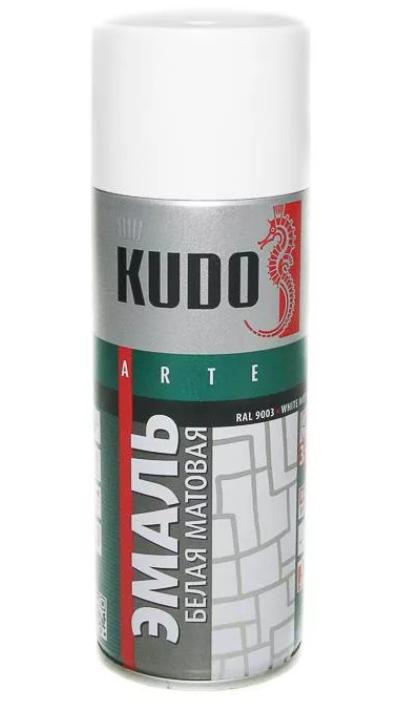 Краска белая матовая KUDO KU1101 520 мл