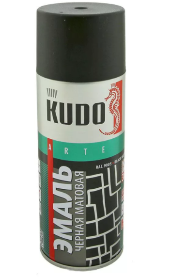 Краска чёрная матовая KUDO KU1102 520 мл