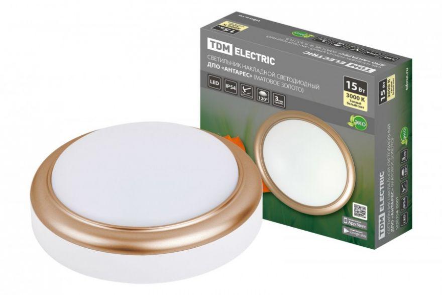 Светильник светодиодный TDM SQ0354-0018 15W матовое золото
