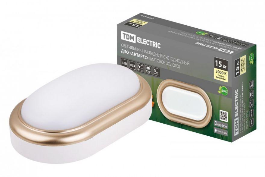 Светильник светодиодный TDM SQ0354-0020 15W матовое золото