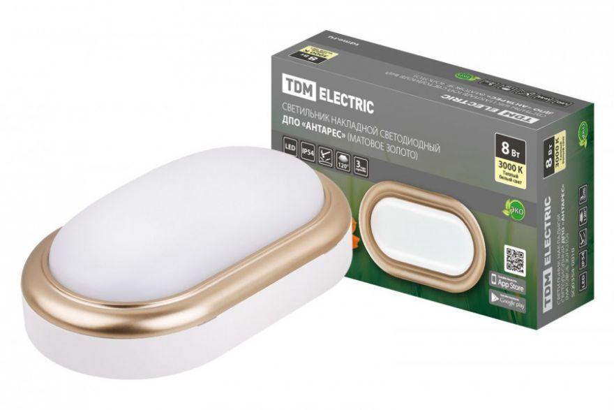 Светильник светодиодный TDM SQ0354-0016 8W матовое золото