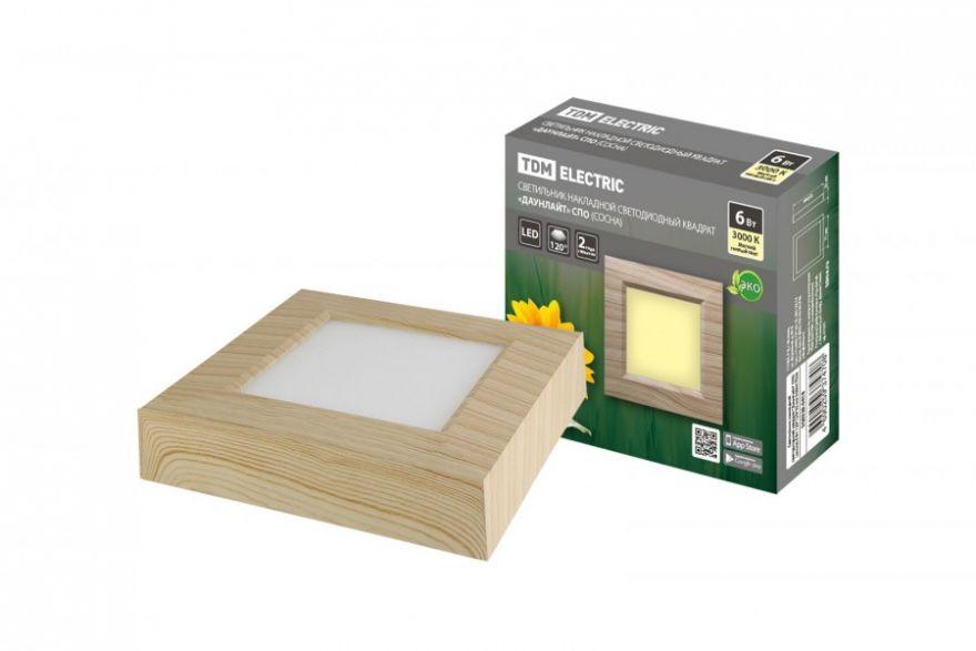 Светильник светодиодный TDM SQ0329-0418 6W сосна