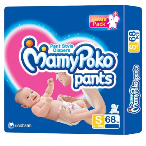 Детские подгузники-трусики Ультра Защита MamyPoko Small 68 шт
