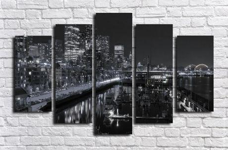 Модульная картина город 37
