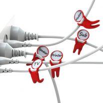 Держатели-маркеры для проводов Label your cable, 3 шт, белый