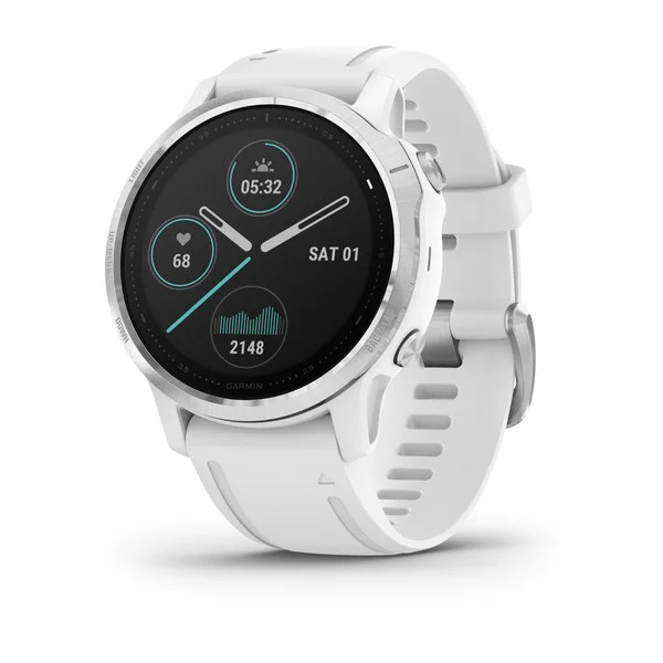 Часы Garmin Fenix 6S белый с белым ремешком