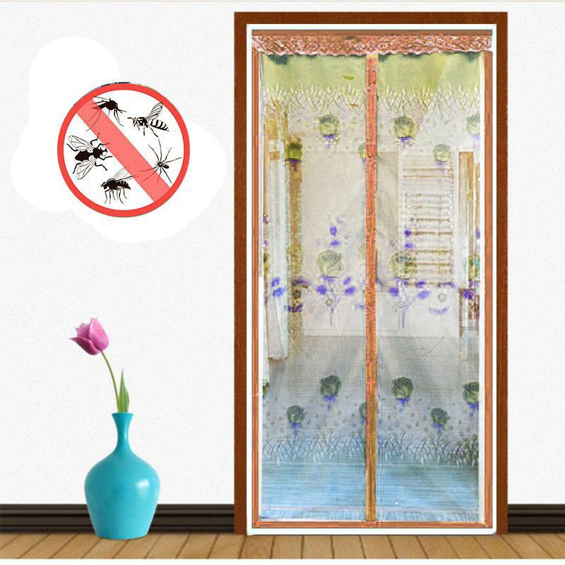 Москитная сетка на дверь на магнитах, цвет коричневый