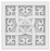 Декоративная Панель Европласт Лепнина 1.57.502 Ш146хВ146хТ32 мм