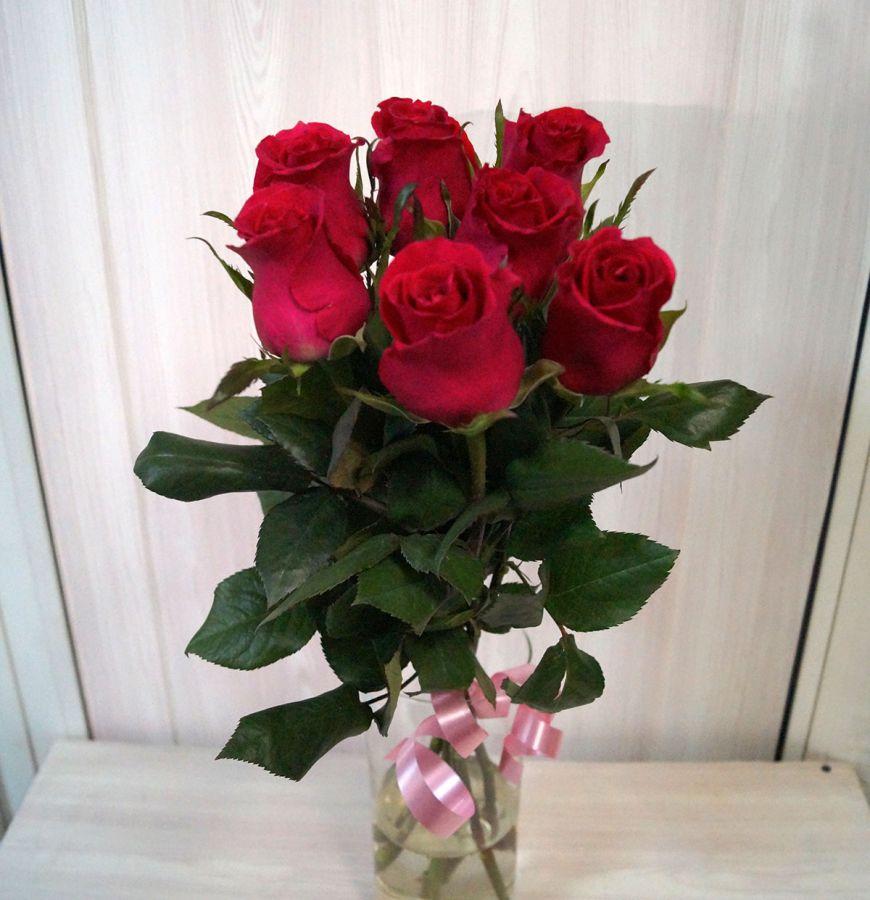 7 роз - Готча (60 см)