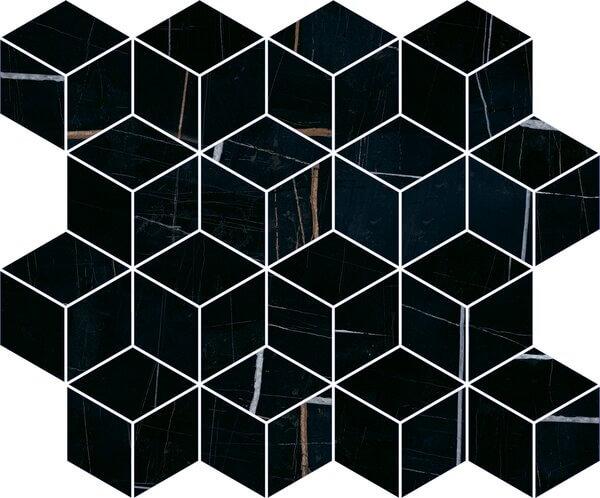 T017/14026 | Декор Греппи черный мозаичный
