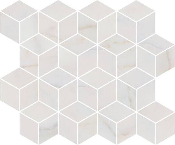 T017/14003 | Декор Греппи белый мозаичный