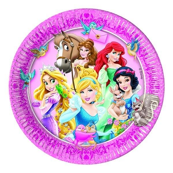 Бумажные тарелки Принцессы диснея
