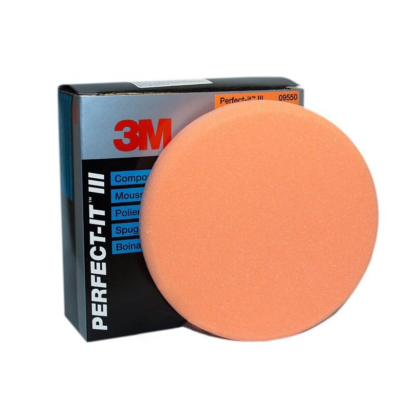 3М 09550 Оранжевый поролоновый полировальник, 150 мм.