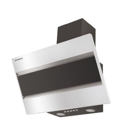 Вытяжка наклонная MAUNFELD BRIDGE 60 нержавеющая сталь черное стекло