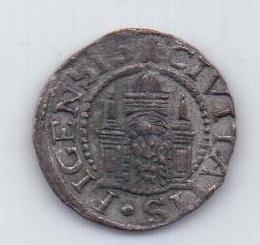 1 шиллинг 1571 года AUNC Рига