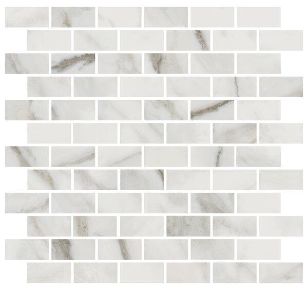 MM13105 | Декор Буонарроти белый мозаичный