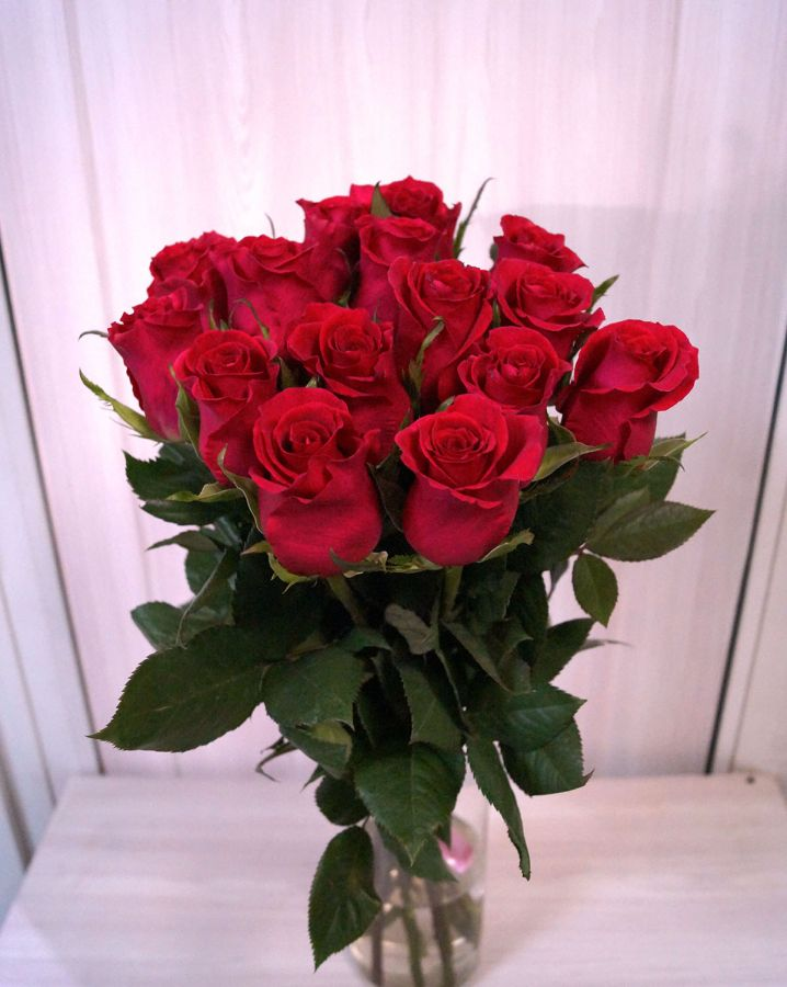 15 роз - Готча (60 см)