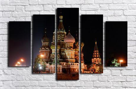 Модульная картина город 45