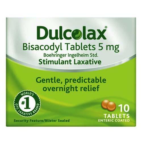 Таблетки Dulcolax (Дульколакс) для кишечника 10 штук