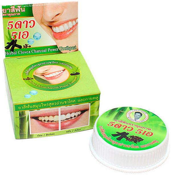 Тайская зубная паста с Углем бамбука 25 гр