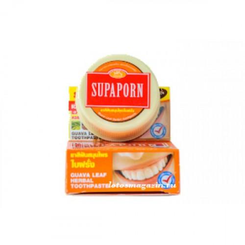 Тайская отбеливающая зубная паста с гуавой Supaporn 25 гр