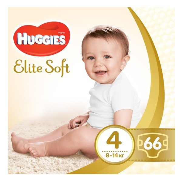 "Huggies ""Elite Soft 4"" 66 шт"