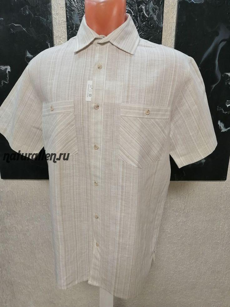 Мужская льняная рубашка классика