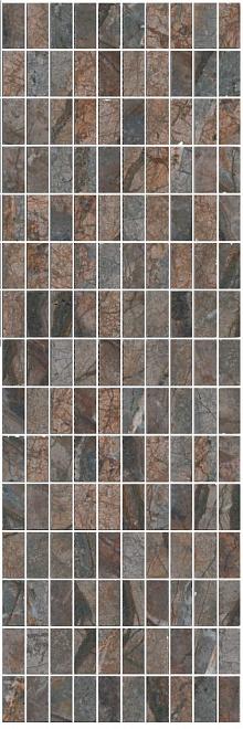 MM12143 | Декор Театро коричневый мозаичный