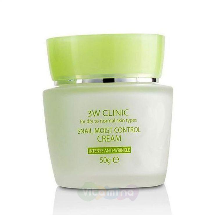 3W CLINIC Восстанавливающий крем для лица с улиточным муцином Snail Moist Control Cream, 50 гр
