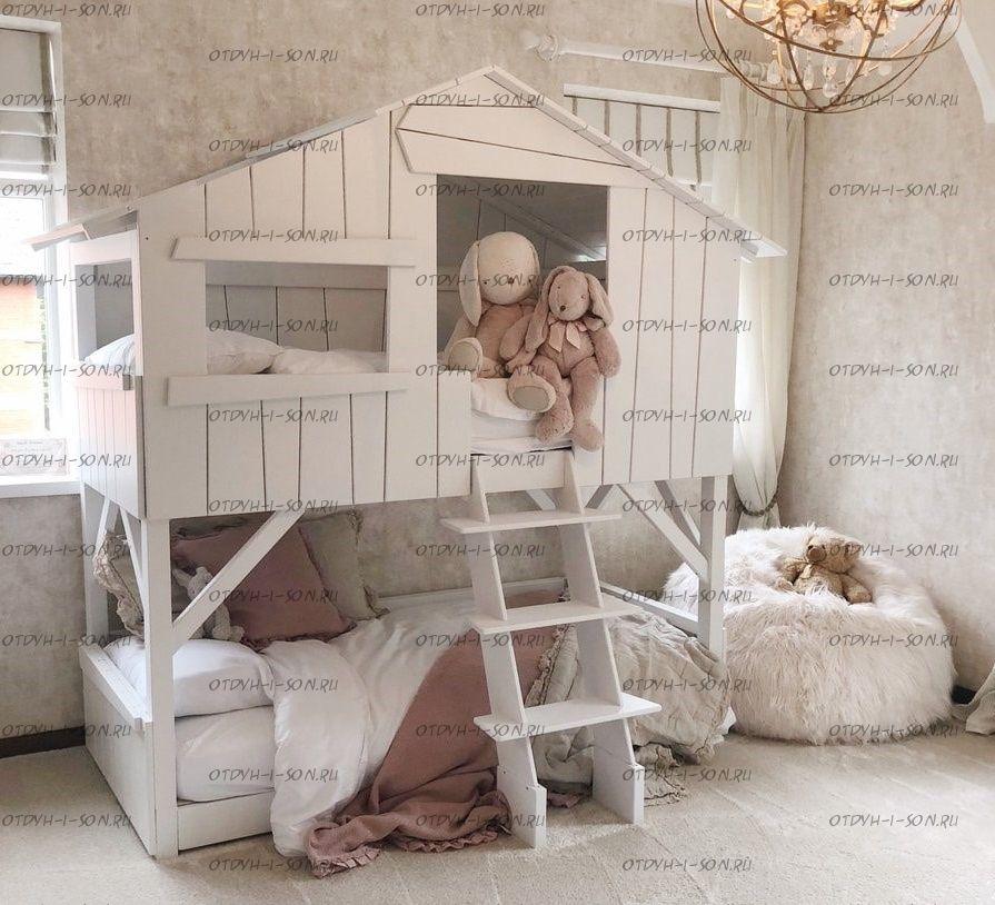 Кровать двухъярусная Домик Depo Roof №1 (Кровать-домик) любые размеры