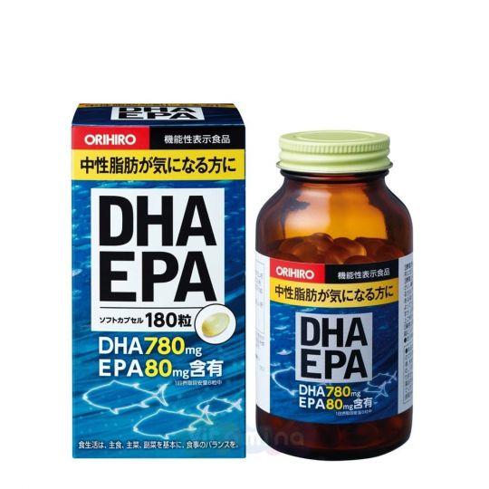 Orihiro ДГК И ЭПК c витамином Е, 180 капс
