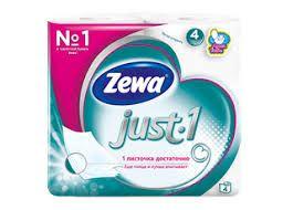 Туалетная бумага Zewa Just1 4шт