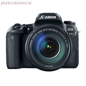 Зеркальный фотоаппарат Canon EOS 77D Kit EF-S 18-135mm f/3.5-5.6 IS USM