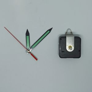 `Часовой механизм, шток 16 мм, со стрелками №11 светятся в темноте