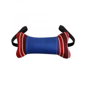 Игрушка  для собак КОСТЬ С 2-мя РУЧКАМИ с пластиковой бутылкой внутри 30 см текстиль