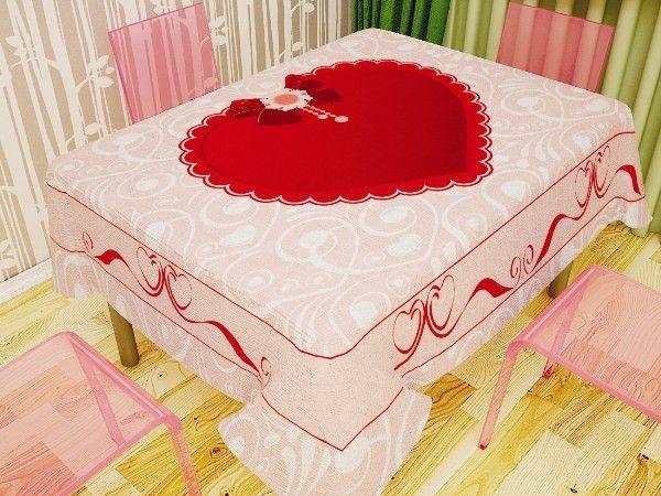 Скатерть Newtone 120 х 150 см Дизайн Сердце арт. 4