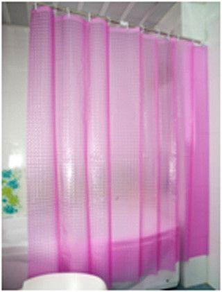 Шторка для ванной розовая с кристаллическим 3D-эффектом
