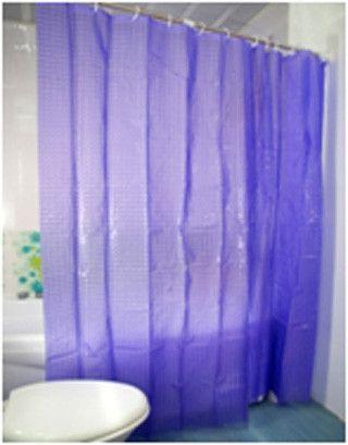 Шторка для ванной фиолетовая с кристаллическим 3D-эффектом