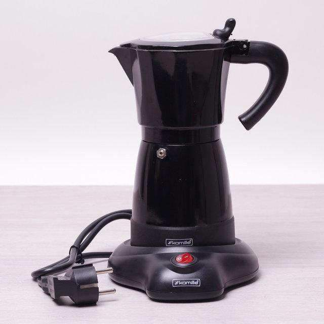 Кофеварка гейзерная электрическая 300мл (6 порций) из алюминия КМ-2600 Kamille