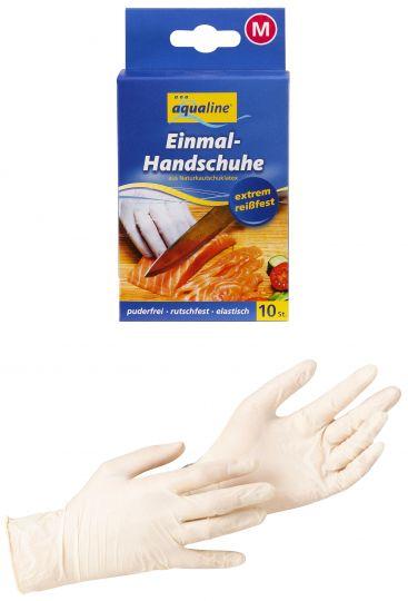 Aqualine Бытовые одноразовые перчатки размер средний 10 шт