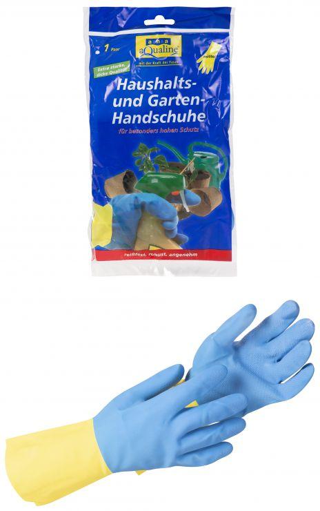 Aqualine Бытовые резиновые перчатки прочные размер средний