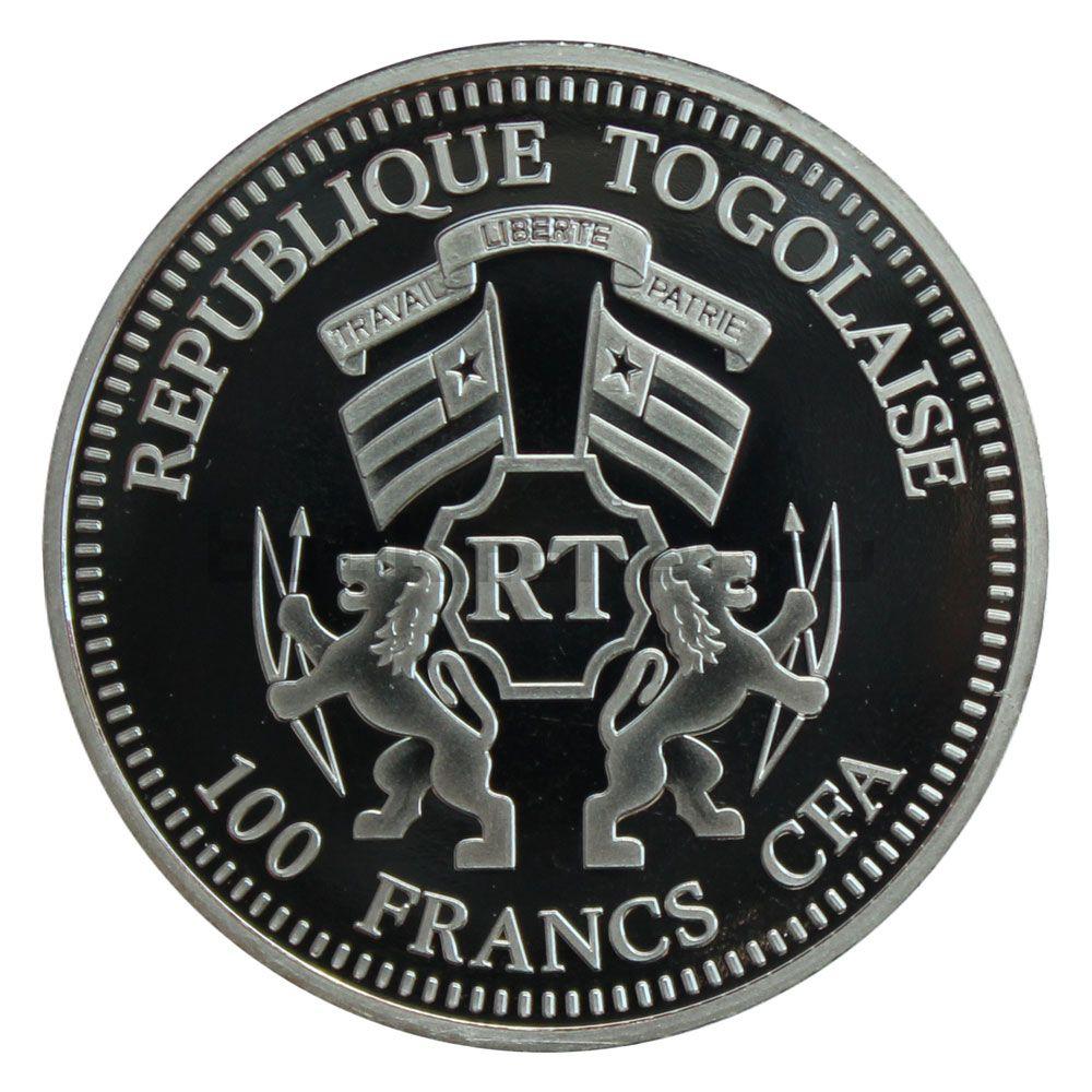 100 франков 2014 Того Канонизация Иоанна Павла II Рождение Иисуса
