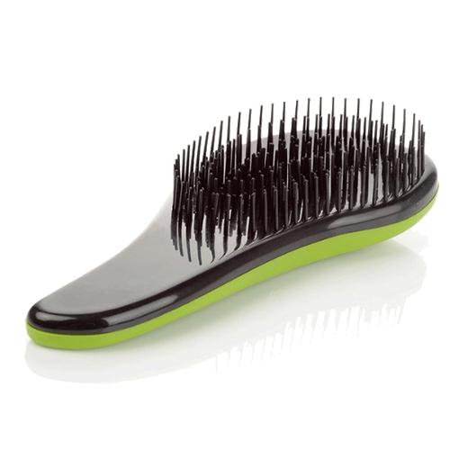 Щётка для распутывания волос Detangler, 18.5 см. Цвет: зеленый.