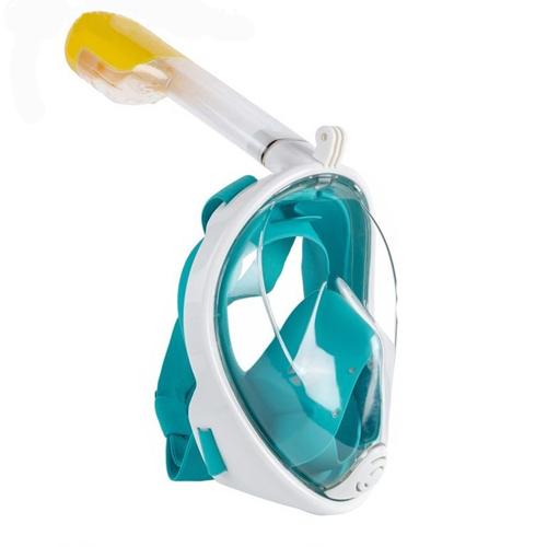 Маска для снорклинга с креплением для экшн-камеры: цвет - зелёный, размер - S/M.
