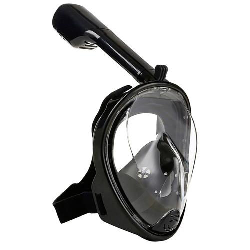 Маска для снорклинга с креплением для экшн-камеры: цвет - черный, размер - L/XL.