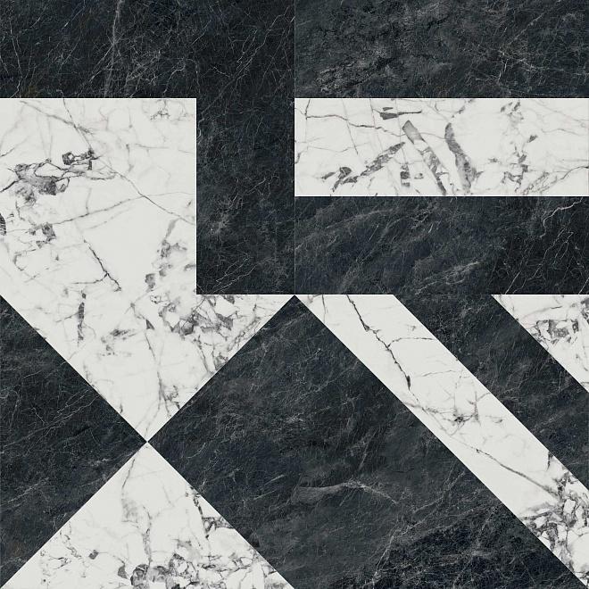 SG013302R | Бьянко Неро белый чёрный лаппатированный